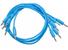 Black Market Modular Patch Cable 5-pack 100 cm blue