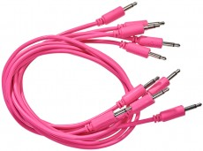Black Market Modular Patch Cable 5-pack 100 cm pink