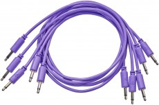 Black Market Modular Patch Cable 5-pack 100 cm violet