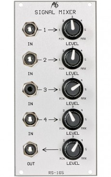 Analogue Systems RS-165 Audio Mixer (Dual Bus)